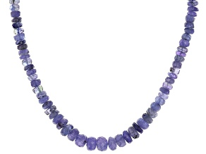 Pre-Owned Blue Tanzanite Bead 14k Gold Necklace approximately 100.00ctw