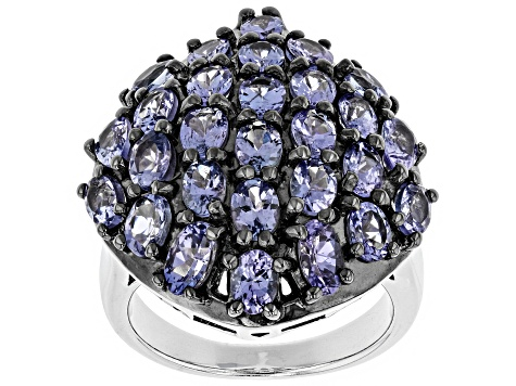 Pre-Owned Blue Tanzanite Sterling Silver Ring 3.99ctw
