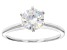 Pre-Owned White Fabulite Strontium Titanate sterling silver solitaire ring 1.76ct