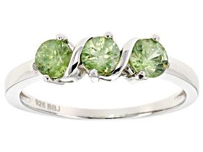 Pre-Owned Green Demantoid Garnet Sterling Silver Ring .70ctw