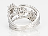 Pre-Owned White Cubic Zirconia Rhodium Over Silver Ring 2.01ctw