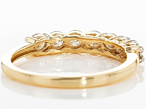 Pre-Owned Moissanite 14k Yellow Gold Ring .70ctw DEW