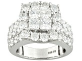 Pre-Owned Cubic Zirconia Sterling Silver Ring 5.96ctw