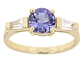 Pre-Owned Blue Tanzanite 10k Yellow Gold Ring 1.46ctw.