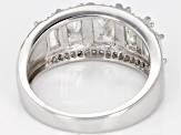 Pre-Owned White  Strontium Titante sterling silver ring 3.69ctw