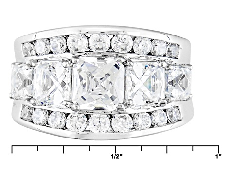 Pre-Owned White Cubic Zirzonia Platineve Ring 6.81ctw