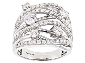 Pre-Owned Moissanite Platineve Ring 2.48ctw D.E.W