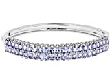 Pre-Owned Blue Tanzanite Sterling Silver Bracelet 6.08ctw