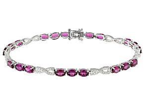 Pre-Owned Purple Rhodolite Sterling Silver Bracelet 11.42ctw