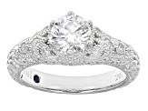 Pre-Owned White Cubiz Zirconia Platineve Ring 2.28ctw
