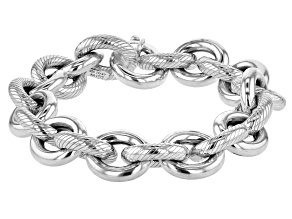 Pre-Owned Sterling Silver Solid Cable Link Bracelet 8 inch