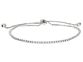 Pre-Owned White Cubic Zirconia Rhodium Over Silver Bracelet 2.07ctw