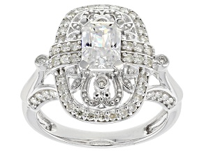 Pre-Owned Moissanite Platineve™ Ring 1.82ctw DEW