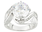 Pre-Owned White Cubic Zirconia Rhodium Over Sterling Silver Ring 7.65ctw