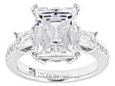 Pre-Owned White Cubic Zirconia Platineve Ring 7.62ctw