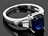 Pre-Owned Mahaleo Sapphire Sterling Silver Ring 3.44ctw