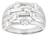 Pre-Owned Moissanite  Platineve Ring 2.00ctw DEW