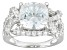 Pre-Owned White Cubic Zirconia Rhodium Over Sterling Silver Ring 8.62ctw