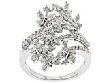Pre-Owned White Diamond Rhodium over Sterling Silver Ring .54ctw