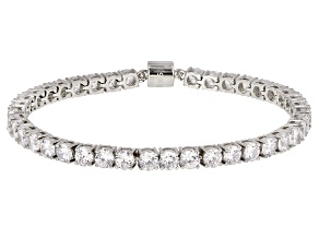 Pre-Owned White Cubic Zirconia Rhodium Over Sterling Silver Bracelet 17.47ctw