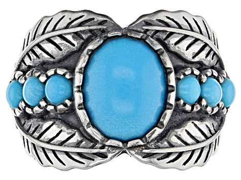 Pre-Owned Sleeping Beauty Turquoise Sterling Silver Ring