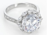 Pre-Owned White Cubic Zirconia Sterling Silver Ring 10.65ctw