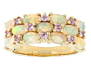 Pre-Owned Ethiopian Opal 14k Yellow Gold Ring 2.49ctw