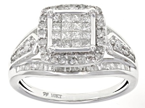 Pre-Owned White Diamond 10k White Gold Ring 1.00ctw