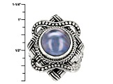 Pre-Owned Pearl Mabe Silver Ring