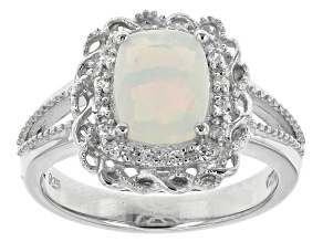 Pre-Owned Ethiopian Opal Sterling Silver Ring 1.07ctw