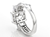 Pre-Owned White Cubic Zirconia Rhodium Over Sterling Silver Ring 7.63ctw