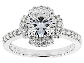 Pre-Owned Moissanite Ring Platineve™ 2.46ctw DEW