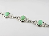 Pre-Owned Green Serbian Opal Sterling Silver Bracelet