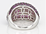 Pre-Owned Purple Rhodolite Sterling Silver Ring 4.38ctw