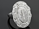 Pre-Owned Diamond Sterling Silver Ring 1.50ctw