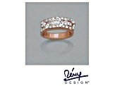 Pre-Owned Cubic Zirconia 18k Rose Gold Over Silver Ring 3.21ctw (1.83ctw DEW)