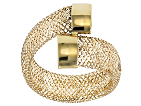 Pre-Owned 10k Yellow Gold Medium Bypass Mesh Ring