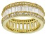 Pre-Owned White Cubic Zirconia 18k Yellow Gold Over Sterling Silver Ring 7.85ctw