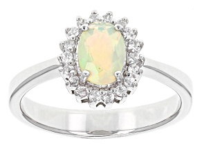 Pre-Owned Ethiopian Opal Sterling Silver Ring .49ctw