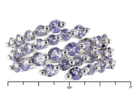 Pre-Owned Blue Tanzanite Sterling Silver Bypass Ring 1.64ctw