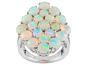 Pre-Owned Ethiopian Opal Sterling Silver Ring 4.97ctw