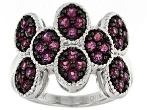 Pre-Owned Purple Rhodolite Sterling Silver Ring. 1.33ctw