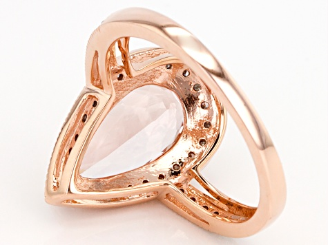 Pre-Owned Pink Morganite 10k Rose Gold Ring 2.28ctw