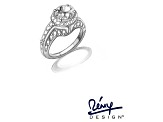 Pre-Owned White Cubic Zirconia Rhodium Over Sterling Silver Angel Wing Ring 4.84ctw