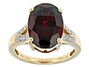 Pre-Owned Red Garnet 14k Yellow Gold Ring 6.75ctw