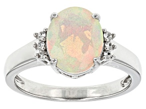 Pre-Owned Ethiopian Opal Sterling Silver Ring 1.36ctw