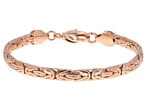 Pre-Owned Copper Byzantine Link Bracelet
