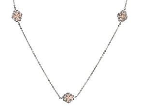 Pre-Owned Platineve ™ & 18K Rose Gold Over Sterling Silver Necklace