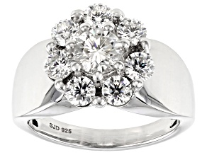 Pre-Owned Moissanite Platineve Ring 2.21ctw DEW.