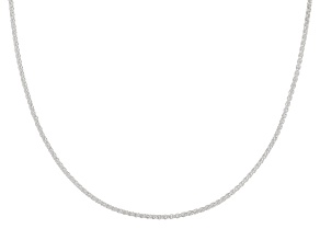 Pre-Owned Sterling silver adjustable wheat chain necklace 24 inch
